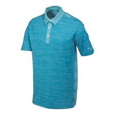PUMA Men's Heather Stripe Cresting Polo Cloisonne Heather M