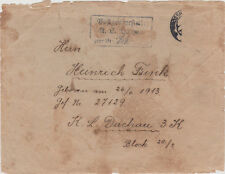 1941 Germany Cover to Heinrich Funk Dachau Concentration Camp KZ Prisoner