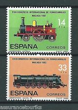 ESPAGNE TRAINS - 1982 YT 2293 à 2294 - TIMBRES SELLOS NEUFS** LUXE