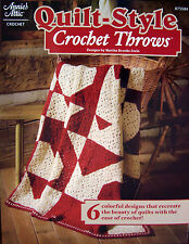 QUILT STYLE Crochet THROWS Project Pattern Book New OOP