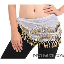 C91001 Belly Dance Belly Dance Costume Waist Cloth Coin belt with 128 Coins