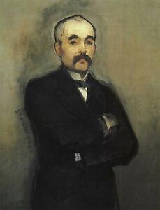 """Edouard Manet - Portrait of Georges Clemenceau (1879) - 17"""" x 22"""" Fine Art Print"""