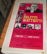 IL DELITTO MATTEOTTI locandina originale 1973 FRANCO NERO