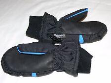 Children's Waterproof Winter Warm Snow, Ski Gloves, Black/Blue