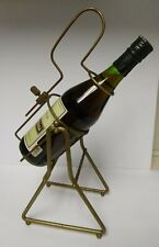 Vintage Mid Century Metal Single Wine Bottle Holder Stand Display