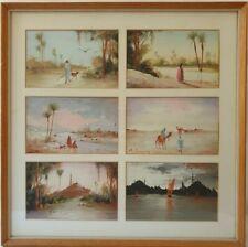 Constance H Cumming Arabian Views Circa 1900 6 Miniature Watercolour Paintings