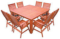 NEW Merbau Hardwood Square Outdoor Dining Setting Outdoor $1999 - $2299