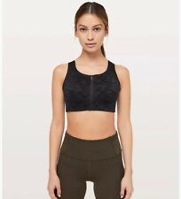 Lululemon Enlite Bra Zip Front Size 34D in Black