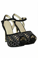 Women's Girls Stiletto Heel Ladies Peep Toe Caged Sandals Party Shoes Size (4)