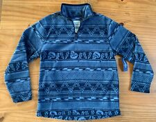 OLD NAVY Boys Size S Navy Blue Skull Lightning Quarter Zip Fleece Jacket NWT