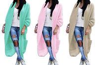 Damen Frühling Strickjacke Pullover Mantel Cardigan Oversize Boho S M L XL (629)