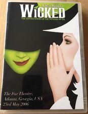 WICKED - THE MUSICAL - ATLANTA, GEORGIA, USA 2006 [DVD]