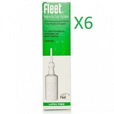 6 x Fleet Ready To Use 21.4g Latex Free Enema For Occasional Constipation Relief