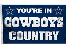 Dallas Cowboys Large Outdoor Hanging NFL 3' x 5' Feet Banner Club Flag