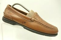 Sperry Top Sider Brown Woven Leather Casual Slip On Loafer Men's 8.5 M