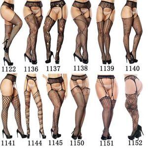 Women Sexy Lingerie Fishnet Garter Belt Stockings Pantyhose Tights Thigh Highs