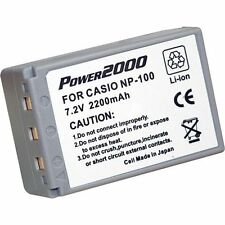 Power2000 ACD-290 Battery NP-100 NP-100DBA for Casio Exilim Pro EX-F1 Camera