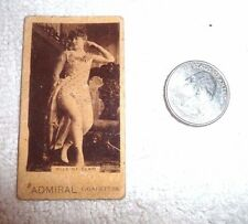 ANTIQUE ADMIRAL  CIGARETTE CARD MLLE ST. CLAIR c.1890