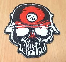 1xNEW RED SKULL METAL MULISHA RACING SYMBOL EMBROIDERED IRON ON PATCH SHIRT PO87