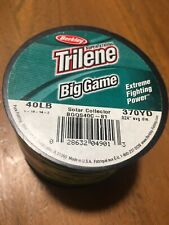 Trilene Big Game 40 Lb 370  yds Solar Collector Fishing Line Spool  .024