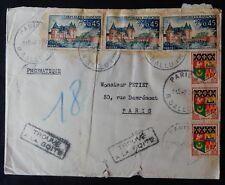 """Ad5** Enveloppe / Pli postal France 1962 Cachet """"Trouvé à la boîte"""""""