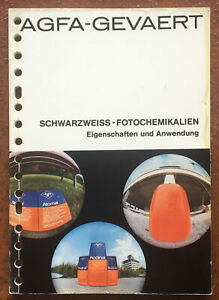 AGFA-Gevaert, Köllges, Schwarzweiss-Fotochemikalien, 1. Aufl. 1975, 120 Seiten