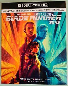 BLADE RUNNER 2049 BLU RAY 4K ULTRA HD + BLU RAY 3D + BLU RAY 2D + DIGITAL +BONUS