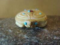 Zuni Indian Hand Carved Dolomite Turtle Fetish!  Danette Laate FF467