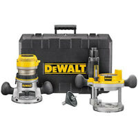 DEWALT 1-3/4 HP 120V Fixed Base and Plunge Router Combo Kit DW616PK New