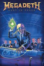 More details for megadeth - rust in peace official licensed textile poster flag