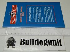 1999 Major League Baseball MLB Monopoly Board Game Instructions Book Only