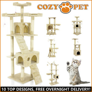 Cozy Pet Cat Trees Scratching Post Heavy Duty Sisal Kitten Activity Center Tree