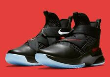 NIKE LEBRON SOLDIER XII FLYEASE TRAINERS, SIZE UK9.5, BLACK/RED, AV3812004