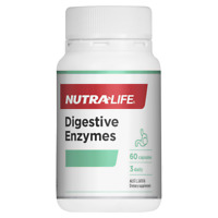 Nutra-Life Digestive Enzymes 60 Capsules Assists Digestion Vegan NutraLife
