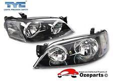 TYC Pair LH+RH Head Light Lamp Black For Ford Falcon BA BF Series 1 XT 02~06