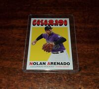 NOLAN ARENADO 2020 TOPPS THROWBACK THURSDAY #TBT PRINT RUN #/570 #87 ROCKIES!