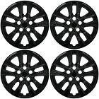 4 Black 16 Wheel Covers For Nissan Altima 2002-2018 Snap On Full Rim Hub Caps
