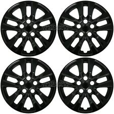 "4 Black 16"" Wheel Covers for Nissan Altima 2002-2018 Snap On Full Rim Hub Caps"