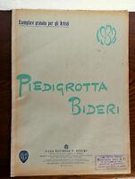 SPARTITO PIEDIGROTTA  F.  BIDERI 1932 ANNO  X° ERA FASCISTA - CANZONI NAPOLETANE