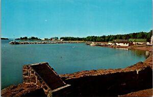 Vtg 1950's Boats at Grand Marais Harbor, Minnesota MN Postcard