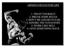 ARNIES #6 rukes Leben Bodybuilder Poster Zitat Foto Motivation Gym Muskel