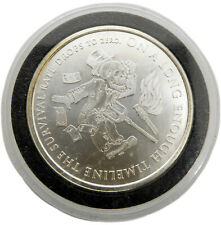 New Listing2014 Survival Rate Drops To Zero 1 oz .999 Bullion Round by Silver Shield