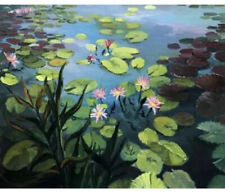 LILY POND BY GRAFITEC CANVAS ONLY TAPESTRY 60x90cm