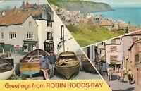 Postcard - Robin Hoods Bay - 3 Views