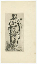 Antique Print-WOMAN-CHASTITY-ZEEDIGHEIT-Houbraken-c. 1710