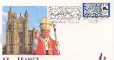 ENVELOPPE VISITE DU PAPE JEAN PAUL II / FRANCE / SAINT LAURENT SUR SEVRE  1996
