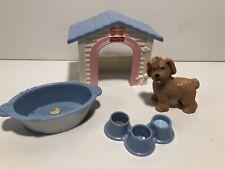 Fisher Price Loving Family Dollhouse Dog House Dish Bath Tub Pet 2005 Set