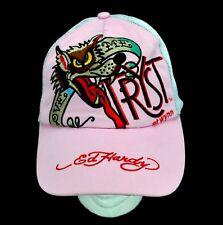 Ed Hardy Love Me Tryst Wynn Las Vegas Nightclub Womens Baseball Cap Pink Mesh