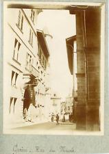 Suisse, Genève, Rue du Musée, ca.1900, vintage citrate print Vintage citrate pri