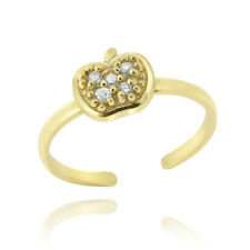 Gold over 925 Silver Cz Apple Toe Ring
